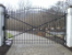 7 - 8ft Custom Roll Top Wrought Iron Entrance Gate