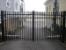 Aluminum Double Drive Swing Gate with Operator