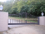 Custom Made Wrought Iron Gate with Circles