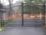Estate Style 7-8 ft Aluminum Roll Top with Short Pickets at Bottom Entrance Gate